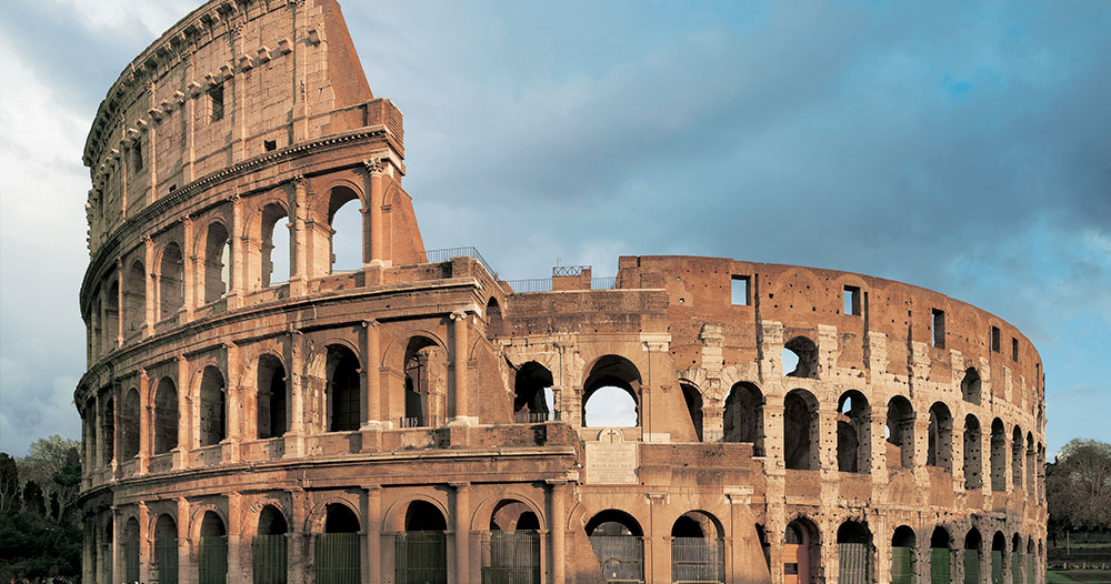 The Cavea Of The Colosseum And The Belvedere Terrace Parco