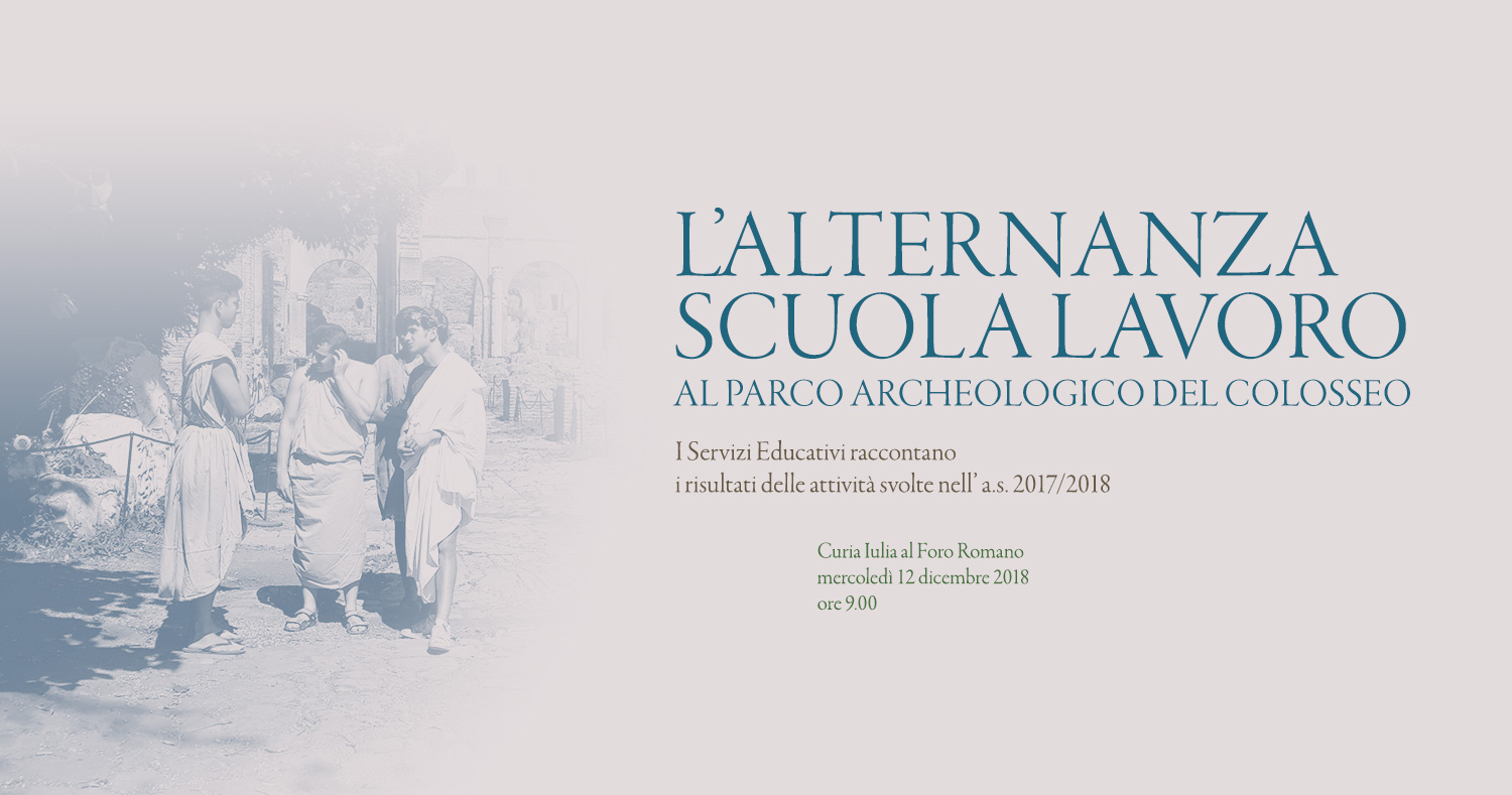Alternating school and work at the Parco archeologico del Colosseo