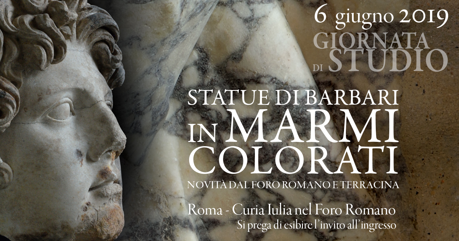 COLORED MARBLE STATUES OF BARBARIANS — News from the Roman Forum and Terracina