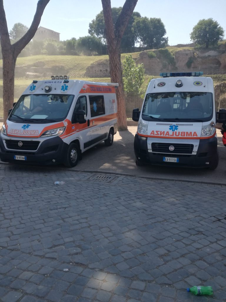 The Parco archeologico del Colosseo expands its on-site medical services for the Summer season with two ambulances stationed in Piazza del Colosseo
