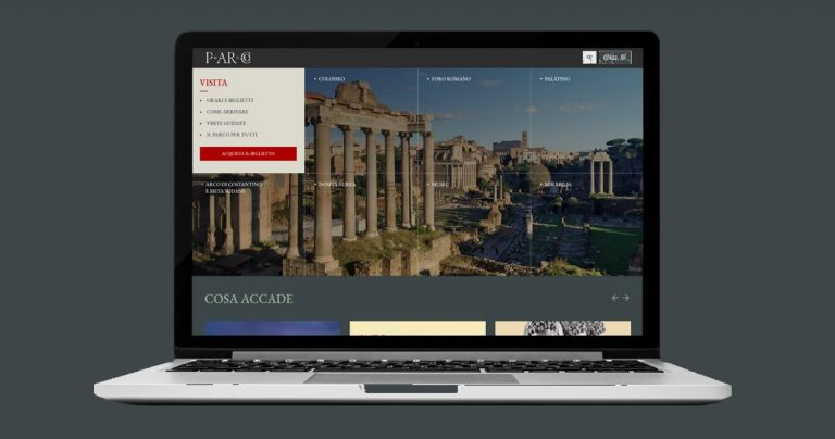 Online offering of the Parco archeologico del Colosseo's 'fifth site'