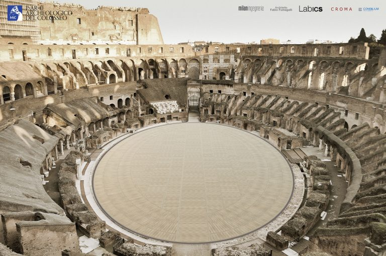 Colosseum: winning project announced for the reconstruction of a new arena floor